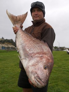 Jimmy B with his 13.4kg Snapper.